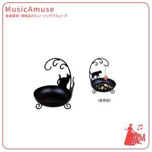 黒猫アクセサリースタンドミニ  G-4531BK  ミュージックアミューズ|music-amuse