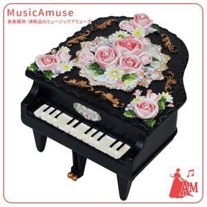 ミニ ピアノ型 オルゴール ブラック ノクターン ショパン G-6212BK  ミュージックアミューズ|music-amuse