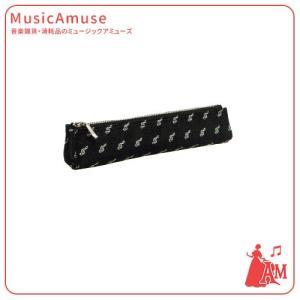 クラバット ペンポーチ ト音記号 ブラック KT180PGCBL  ミュージックアミューズ|music-amuse