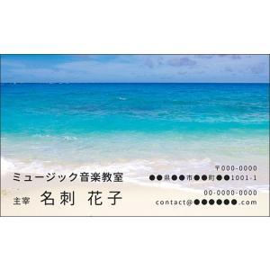 海 波 夏 デザイン 名刺 名刺49  ミュージックアミューズ|music-amuse
