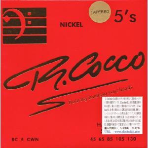 《メール便/代引不可》《1セット》 R.Cocco (アールコッコ) RC5CWTN NICKEL 5's Tapered 5弦 ニッケル テーパーコア弦 music-exp