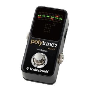 《在庫有》《正規輸入品・新品》 t.c.electronic (TCエレクトロニック) PolyTune 2 Noir (ノアール) ポリフォニックチューナー
