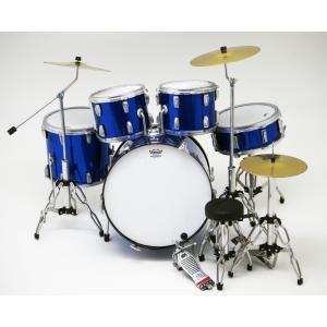 Musical Story ミニチュア ドラム フィギュア 楽器 模型 パールブルー デカール付きの画像