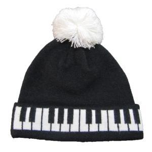 ニット帽 ピアノ鍵盤柄|musicoffice
