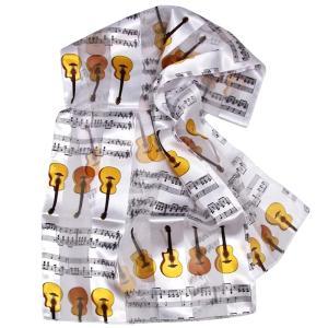 スカーフ【ギター・楽譜柄】 musicoffice