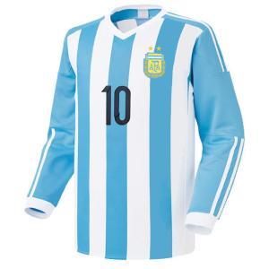 名入れOK アルゼンチン ホーム 15-16 上着のみ LX ノンブランド レプリカユニフォーム ご希望のイニシャル背番号 無料プリント|musicoffice