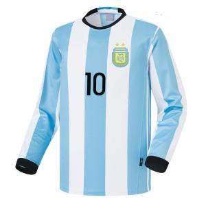 名入れOK アルゼンチン ホーム 16-17 COOLEVER素材 上着のみ UT ノンブランド レプリカユニフォーム ご希望のイニシャル背番号 無料プリント|musicoffice