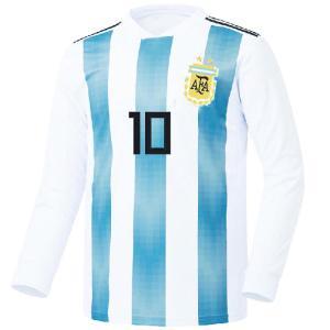名入れOK キッズあり アルゼンチン ホーム 18-19 COOLEVER素材 上着のみ UT ノンブランド レプリカユニフォーム ご希望のイニシャル背番号 無料プリント|musicoffice