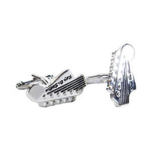 カフスボタン (Cuff Links) ミュージックギフト エレキギター ヘッド 音楽モチーフ ギフトラッピング付き musicoffice