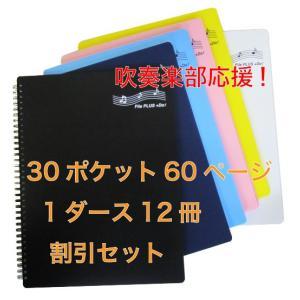 バンドファイル 楽譜ファイル 1ダース12冊まとめて割引 30ポケット File PLUS +Do(A4、60ページ)書き込みOK|musicoffice