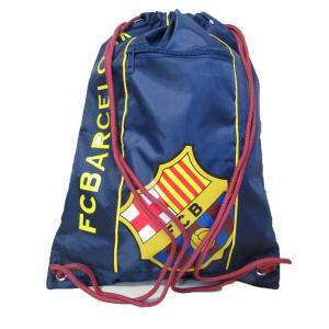 GYM SACK ナップサック FCB BARCELONA NAVY バルセロナ ネイビー 小物入れジッパー付き OFFICIAL オフィシャル|musicoffice