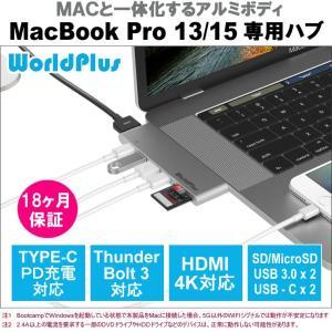 MacBook Pro 13/15インチ(2016/2017)専用のUSB Type-C マルチハブ...