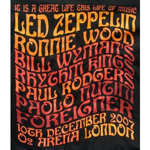 レッドツェッペリン Led Zeppelin - Ahmet Ertegun Tribute Concert: Big Names T-Shirt Black L-size (goods)|musique69