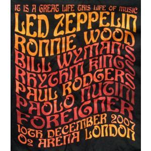 レッドツェッペリン Led Zeppelin - Ahmet Ertegun Tribute Concert: Big Names T-Shirt Black L-size (goods)|musique69