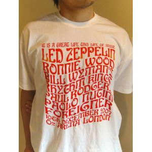 レッドツェッペリン Led Zeppelin - Ahmet Ertegun Tribute Concert: Big Names T-Shirt White L-size (goods)|musique69