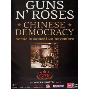 ガンズアンドローゼズ Guns N' Roses - Chinese Democracy 2008 French Promo Poster (goods)|musique69