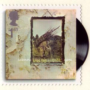 レッドツェッペリン Led Zeppelin - Classic Album Covers: IV Strip of 5 Stamps (goods)|musique69