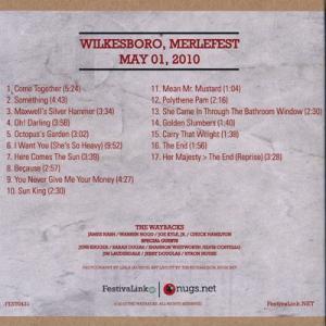 エルヴィスコステロ Elvis Costello (The Waybacks and Friends) - Hillside Album Hour Abbey Road Tribute: Wilkesboro, Nc 05/01/2010 (CD)|musique69|02