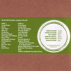 パールジャム Pearl Jam - 2010 Bootleg Series: Dublin, Ireland 22/06/2010 (CD)|musique69|02