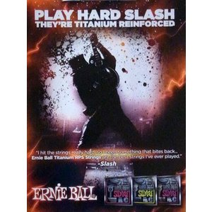 スラッシュ Slash - Play Hard Slash: Ernie Ball Strings Promo Poster|musique69