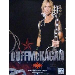 ダフマッケイガン Duff McKagan - World Famous Music Strings: Rotosound Promo Poster|musique69