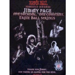 ジミーペイジ Jimmy Page - Five Decades... One Constant: Ernie Ball Strings Promo Poster|musique69