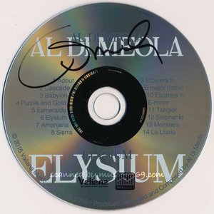 アルディメオラ Al Di Meola - Elysium: Exclusive Autographed Edition (CD)|musique69