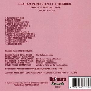 グレアムパーカー Graham Parker and The Rumour - Pink Pop Festival 1978: Official Bootleg (CD)|musique69|02