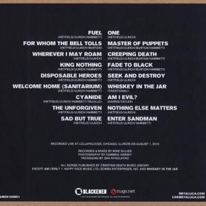 メタリカ Metallica - Live at Lollapalooza; August 1, 2015 (CD)|musique69|02