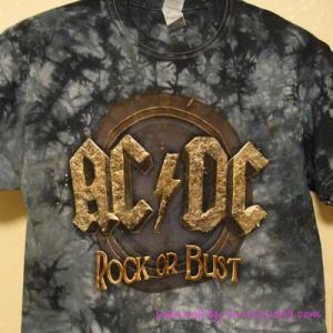 AC/DC - Rock or Bust EU Tour 2016 - Tie Dye T-shirt: M-size|musique69