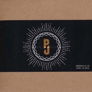 パールジャム Pearl Jam - North American Tour: Greenville, SC 04/16/2016 (CD)|musique69