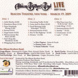 エリッククラプトン Eric Clapton (Allman Brothers Band) - Live (40th Anniversary Tour 1969-2009): Beacon Theatre, NYC 03/19/2009 Reissue (CD)|musique69|02