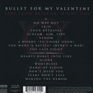 ブレットフォーマイヴァレンタイン Bullet for My Valentine - Live from Brixton: Chapter Two. Night One (CD)|musique69|02