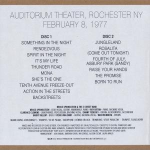 ブルーススプリングスティーン Bruce Springsteen & The E Street Band - Auditorium Theatre, Rochester, NY 1977 (CD)|musique69|02