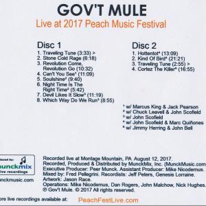 ガヴァメントミュール Gov't Mule - Live at 2017 Peach Music Festival (CD)|musique69|02
