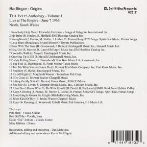 バッドフィンガー (The Iveys) - Badfinger Origins The Iveys Anthology Vol. 1: Live at The Empire: June 7, 1966 Neath, S. Wales (CD)|musique69|02