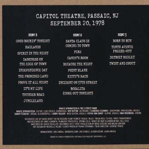 ブルーススプリングスティーン Bruce Springsteen & The E Street Band - Capitol Theatre, Passaic, NJ, September 20, 1978 (CD)|musique69|02