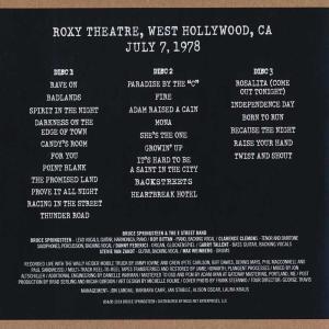 ブルーススプリングスティーン Bruce Springsteen & The E Street Band - The Roxy July 7, 1978 (CD)|musique69|02