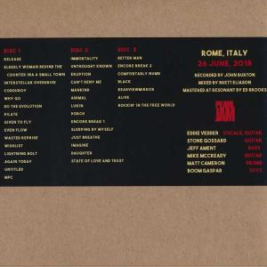 パールジャム Pearl Jam - European Tour: Rome, Italy 26/06/2018 (CD)|musique69|02