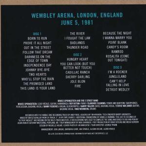 ブルーススプリングスティーン Bruce Springsteen & The E Street Band - Wembley Arena, June 5, 1981 (CD) musique69 02