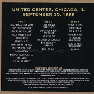 ブルーススプリングスティーン Bruce Springsteen & The E Street Band - Chicago, September 30, 1999 (CD)|musique69|02
