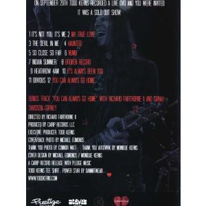 トッドカーンズ Todd Kerns - Live at the B-Side Lounge (DVD)|musique69|02