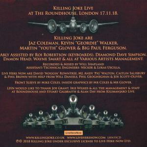 キリングジョーク Killing Joke - Laugh at Your Peril: Live at the Roundhouse (CD)|musique69|02