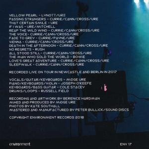 ウルトラヴォックス Ultravox (Midge Ure) - Band Electronica Live (CD) musique69 02