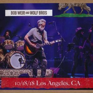 ボブウィア Bob Weir and Wolf Bros - Los Angeles, CA 10/18/2018 (CD)|musique69