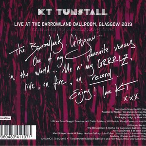 KTタンストール KT Tunstall - Live at the Barrowland Ballroom, Glasgow 2019 (CD)|musique69|02