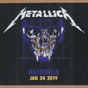 メタリカ Metallica - Nashville, TN 01/24/2019 (CD)|musique69