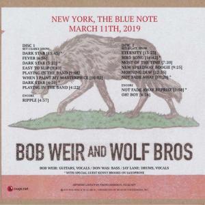 ボブウィア Bob Weir and Wolf Bros - New York, NY 03/11/2019 (CD) musique69 02