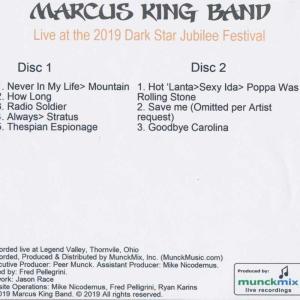 マーカスキングバンド The Marcus King Band - Live at the 2019 Dark Star Jubilee (CD) musique69 02