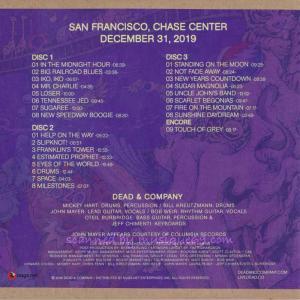ジョンメイヤー John Mayer (Dead & Company) - San Francisco, Chase Center December 31, 2109 (CD) musique69 02